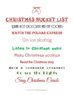 65 best Christmas Bucket List images on Pinterest | Christmas ...