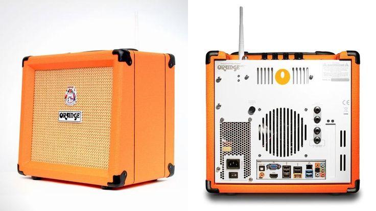 ギターアンプ? それともPC?このオレンジ色のアンプ 「OPC」は、一見普通のギターアンプのように見えますが、中身はギター・アンプどころか家...