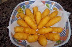 Bolinho de batata com queijo (melhor do que batata-frita)