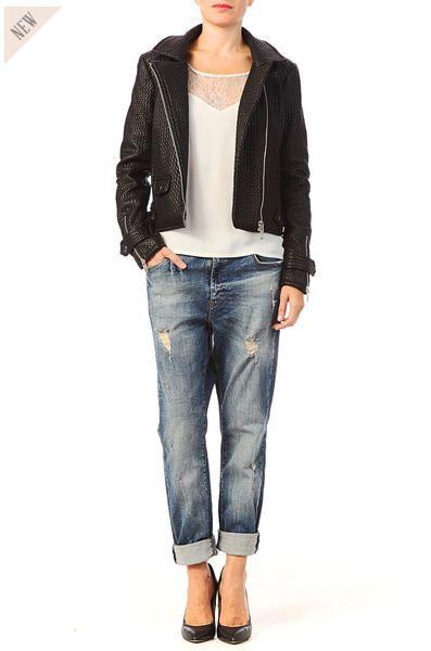 Perfecto femme Monshowroom, craquez sur le Perfecto gaufré Chili Noir Vero Moda prix promo Monshowroom 89.93 € TTC