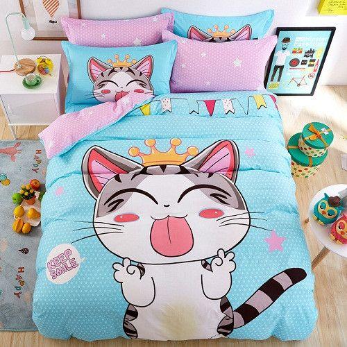 100%Cotton Jordan Basketball Fashion Queen Bedding sets Bed sheet Duvet cover Pillowcases 4 Pcs Double Bed set
