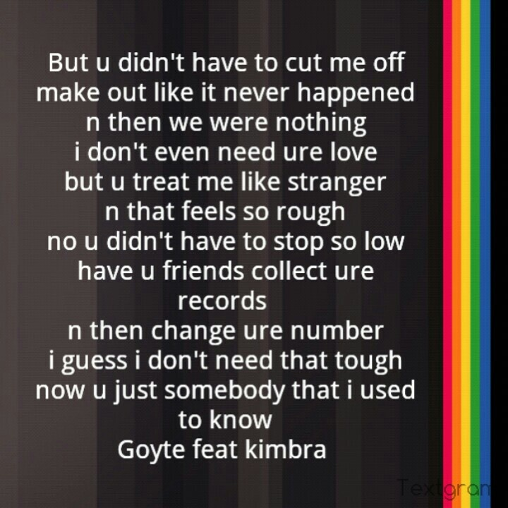 i do love this song so much, a song from goyte feat kimbra ;D