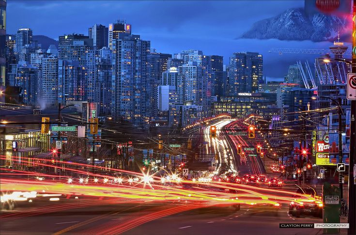 The lights of Vancouver Canada