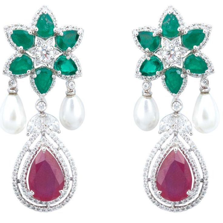 We have the best collection of jewelery  which is providing by Sonal's Bijoux & Adawna in Tear Drop Danglings Earrings because we believe in best service of jewelery