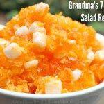 Grandma's 7-Up Orange Jell-O Salad Recipe #7UPupgrade #contest