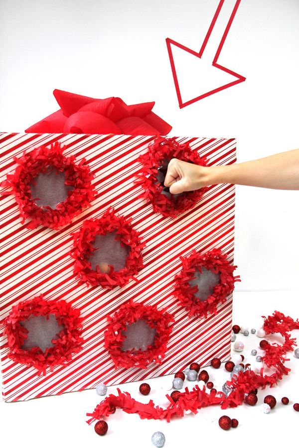 StudioDIY // DIY Punch Box Advent Calendar... How cute would this be for those parties where you can't have a piñata!!
