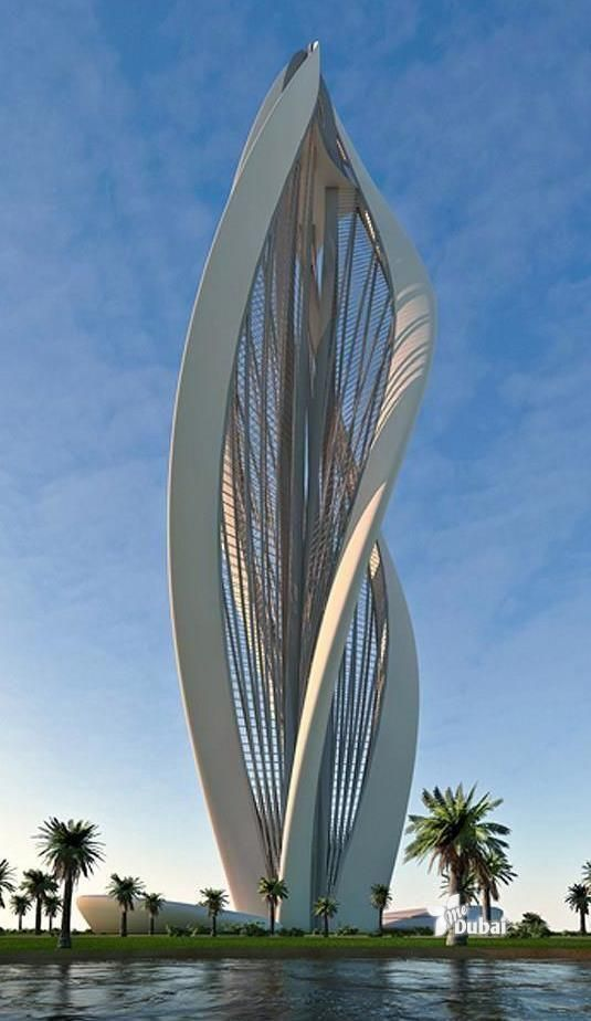 "Dubai - This beautiful and crazy building is designed to resemble a blossoming flower, Greek architecture firm Petra Architects recently submitted ""Blossoming Dubai"" to the Zaabeel Park Tall Emblem Structure Competition. Main building access is on the ground floor and through the two symmetrical structures located on each side of the tower's base."