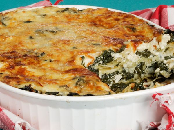 Hake and spinach lasagne – click for recipe.