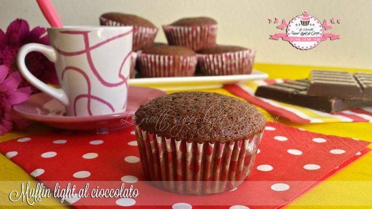 Muffin+light+al+cioccolato+-+senza+uova,+senza+olio+e+senza+latte+(68+calorie+l'uno)