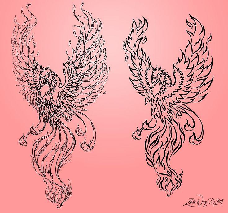 феникс рисунки для тату современным материалам инженерным