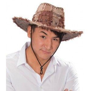 Chapeau Cowboy Aventurier Patchwork Marron Adulte