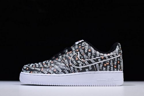 Really Cheap Nike Air Force 1 Low Just Do It Black White Orange AO3977-001  For Sale - ishoesdesign a9649c377