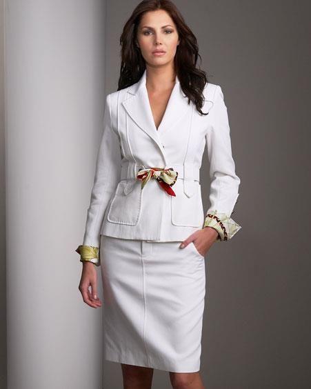 Летний деловой костюм женский