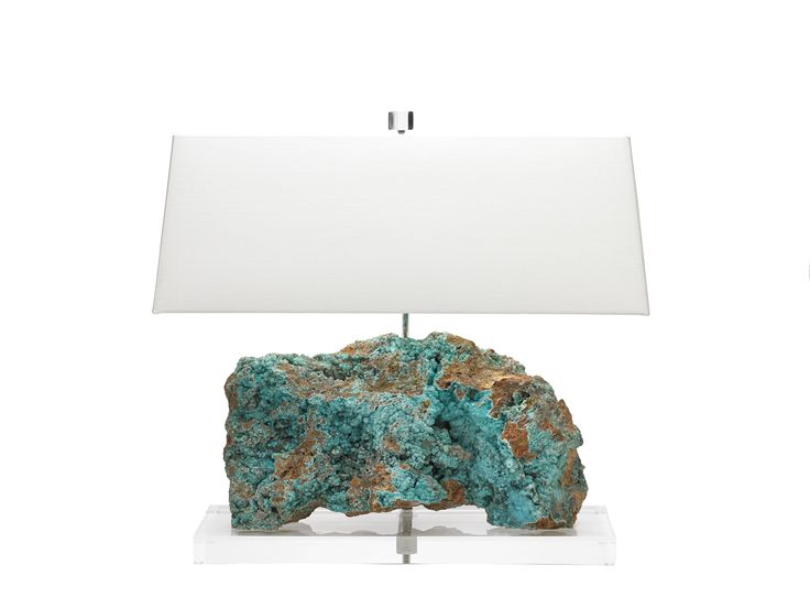 35 best funky table lamps images on pinterest buffet lamps table the colors of the worlds oceans are reflected in this rare lagoon blue hemimorphite lamp handcarved to showcase natural white crests mozeypictures Gallery