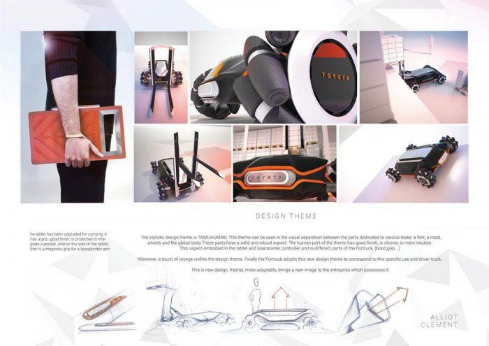 Clément ALLIOT – FORTRUCK ( Handling forklift for truck ) https://www.design-inspiration.net