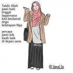 Foto Kartun Muslimah dan Kata Mutiara