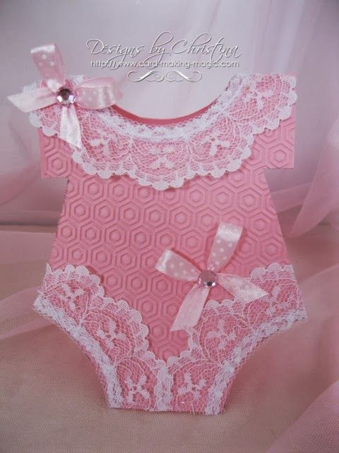 Baby Onesie Card by Christina Griffiths.... A-D-O-R-A-B-L-E !!!.... post includes a video tutorial