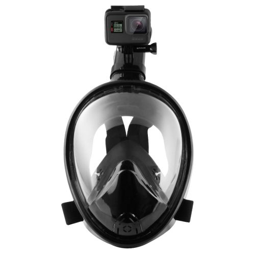 [$20.36] PULUZ Water Sports Diving Equipment Full Dry Snorkel Mask for GoPro HERO5 /4 /3+ /3 /2 /1, S/M Size(Black)