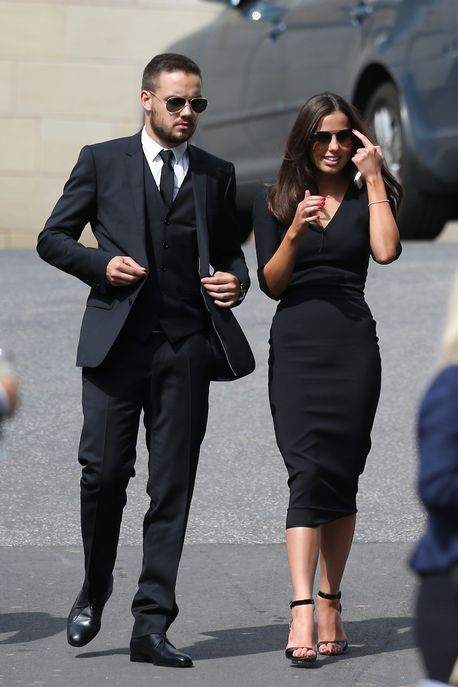 Liam Payne arrives at the wedding of Louis' mum, Johannah Poulston.