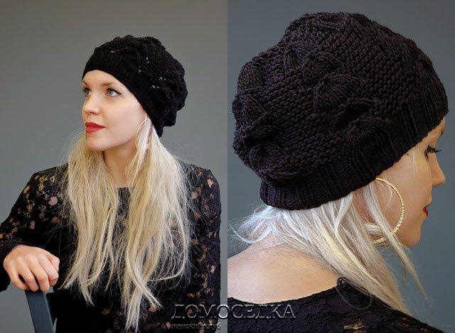 Черная вязаная шапка JOLE от дизайнера Ким Харгривз