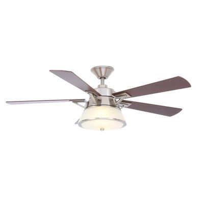 Hampton Bay Marlowe 52 in. Oil Rubbed Bronze Ceiling Fan 51399 at The Home Depot - Mobile