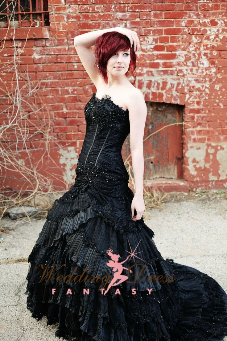 Wedding Dress Fantasy - Black Wedding Gown Available in Every Color SUM1420, $1,400.00 (http://www.weddingdressfantasy.com/black-wedding-gown-available-in-every-color-sum1420/)