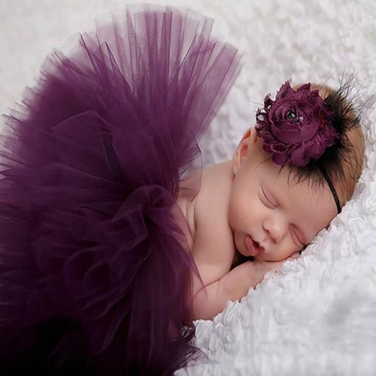 >> Click to Buy << Elegant Purple Newborn Photography Props Baby Girl Lace Tutu Skirt & Flower Headband Set Robe De Bebe Infant Accessories Photos  #Affiliate