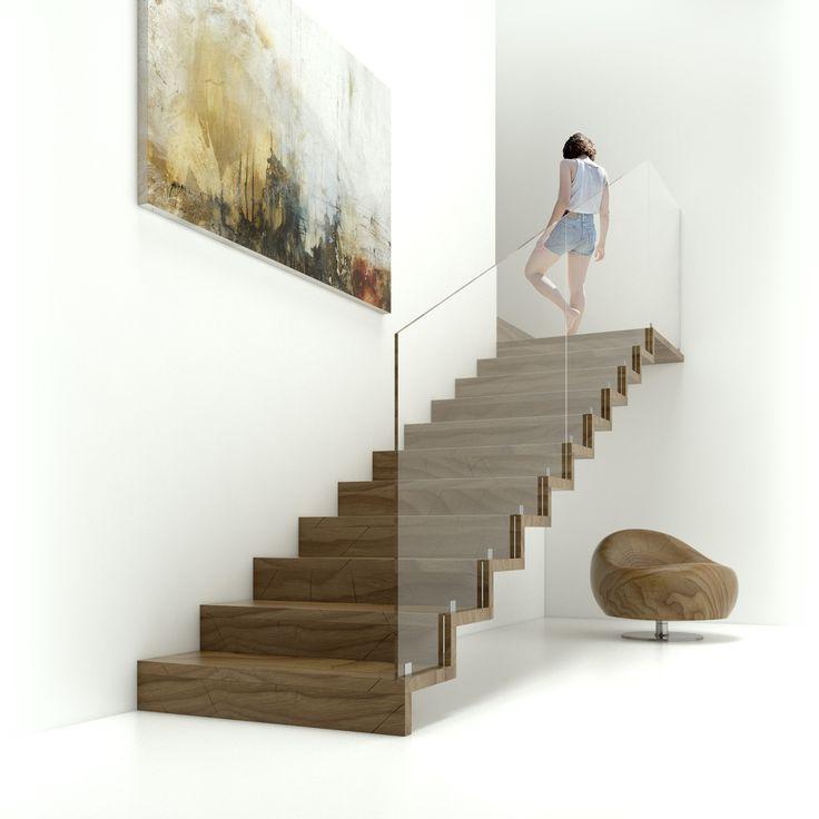 Элитная деревянная лестница Т2 - luxury wooden stairs T2