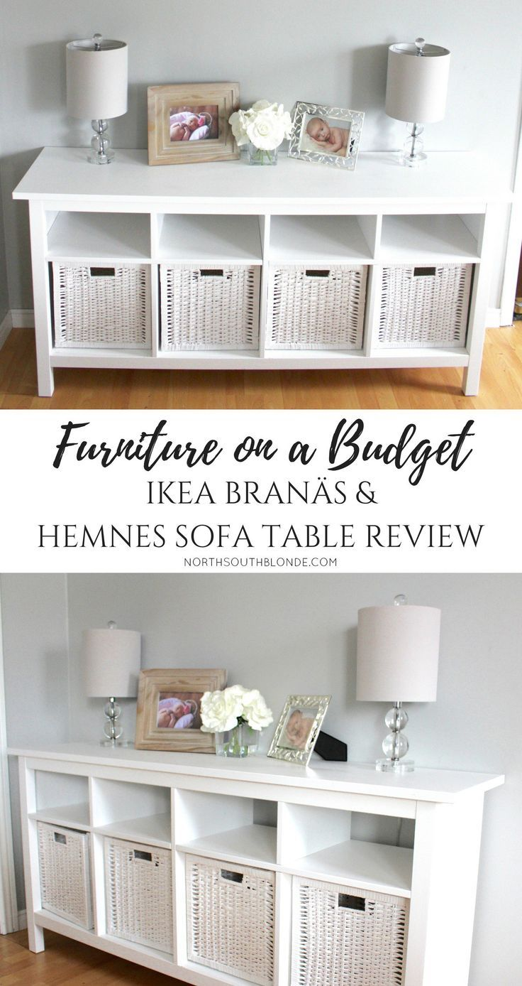 Ikea bran s and hemnes sofa table furniture on a budget farmhouse white chic glam rustic Ikea furniture home accessories