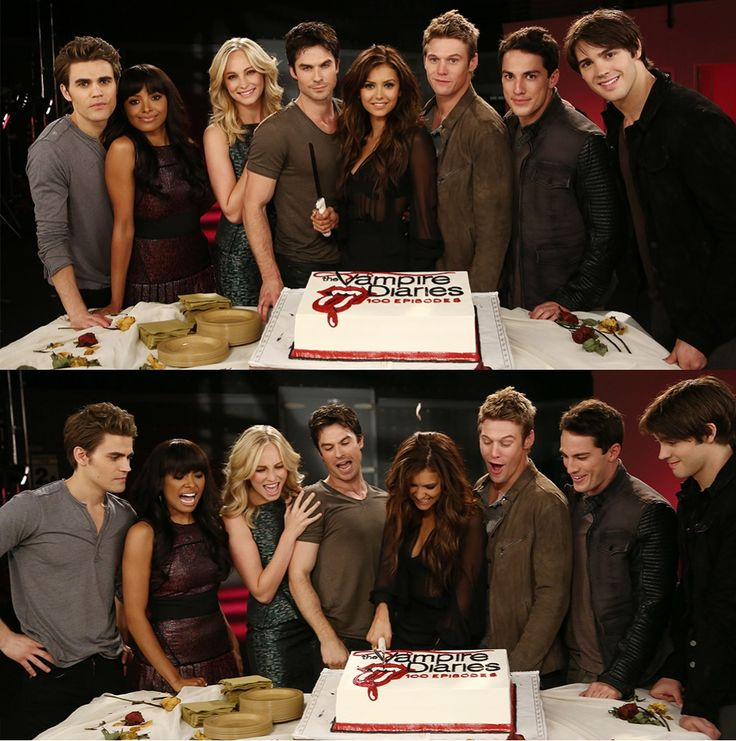 The Vampire Diaries 100th episode - Full Cast Picture