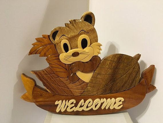 Adorable Welcome Wooden Gift Item For Birthday/ By TigerfnSales. Home Decor  ItemsGifts
