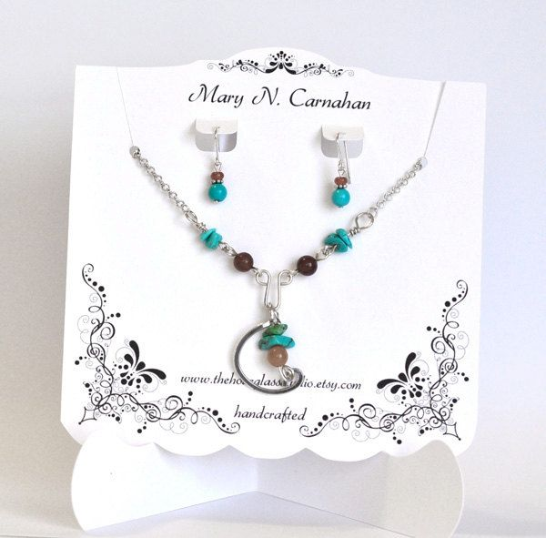 Custom Necklace Display  Set   Earring Card  Personalized Jewelry Display. $12.00, via Etsy.