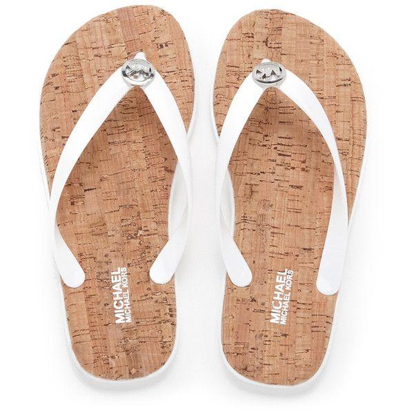 michael kors flip flops white