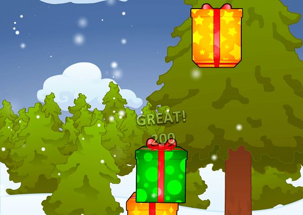 Play this fun Christmas stacking game. Each present you stack moves a little faster. How high can you stack them?