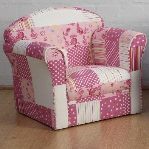 Girls Pink Armchair Children Bed Room Furniture Kids Chair Seat Mini Soft  Lounge
