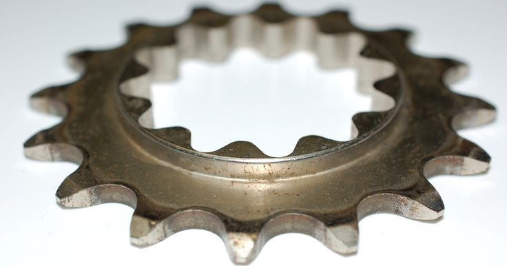 A splined fixed gear cog.