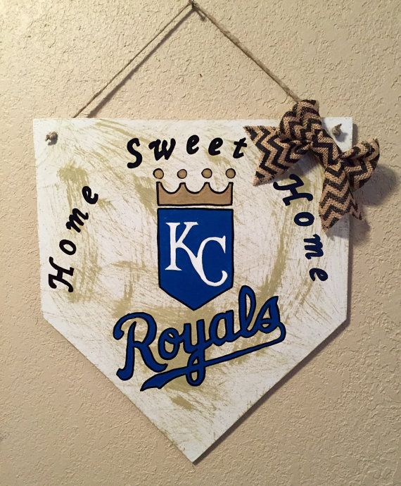 Kansas City Royals home plate sign Kansas City by WandNDesigns