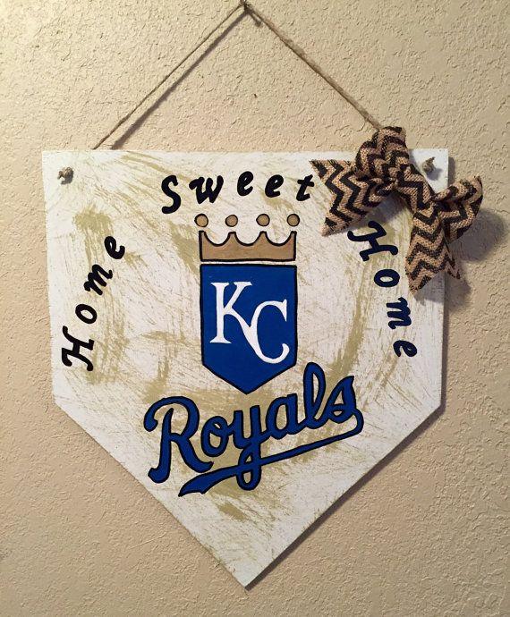 Kansas City Royals home plate sign Kansas City by WandNDesigns