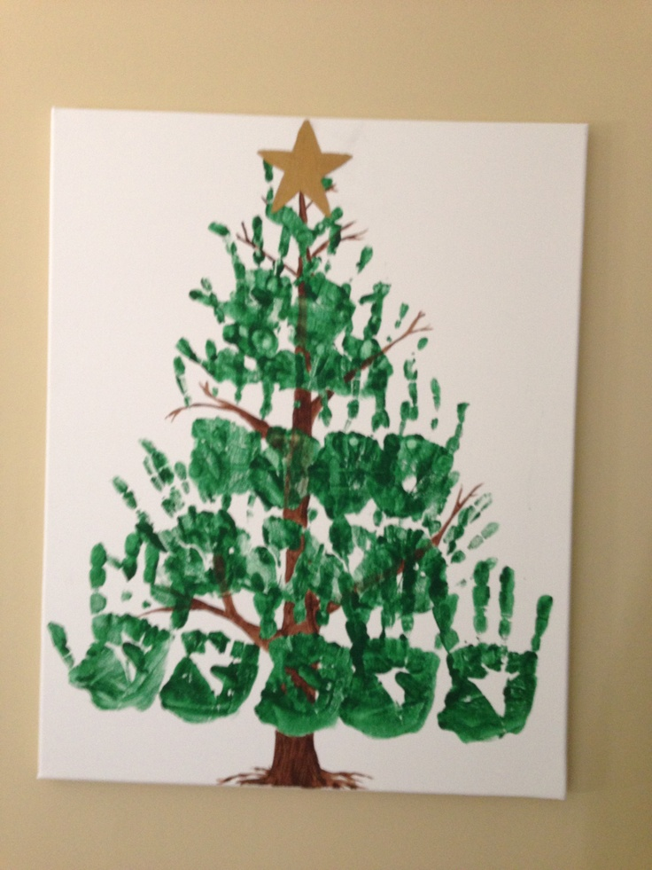 Christmas Tree Crafts Kindergarten : Handprint christmas tree things i ve done
