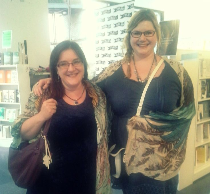 Friends with Wings.  Ruth Frances Long, author of A Crack In Everything (left).