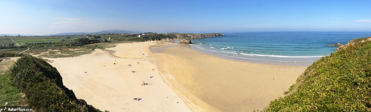 Penarronda beach in Castropol and Tapia de Casariego, Asturias, Spain - one of the most extended beaches in the Western Asturias, a beach with fine sand, crystal clear water and lots of amenities. You would be happy here!