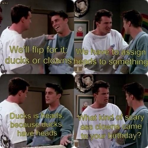 When they unwittingly revealed their childhood traumas to one another.   25 Moments When Joey And Chandler Won At Friendship