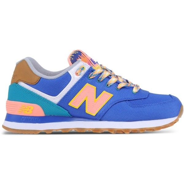 New Balance Low-Tops & Trainers (£85) ❤ liked on Polyvore featuring shoes, sneakers, blue, low profile sneakers, new balance, blue shoes, new balance shoes and new balance footwear