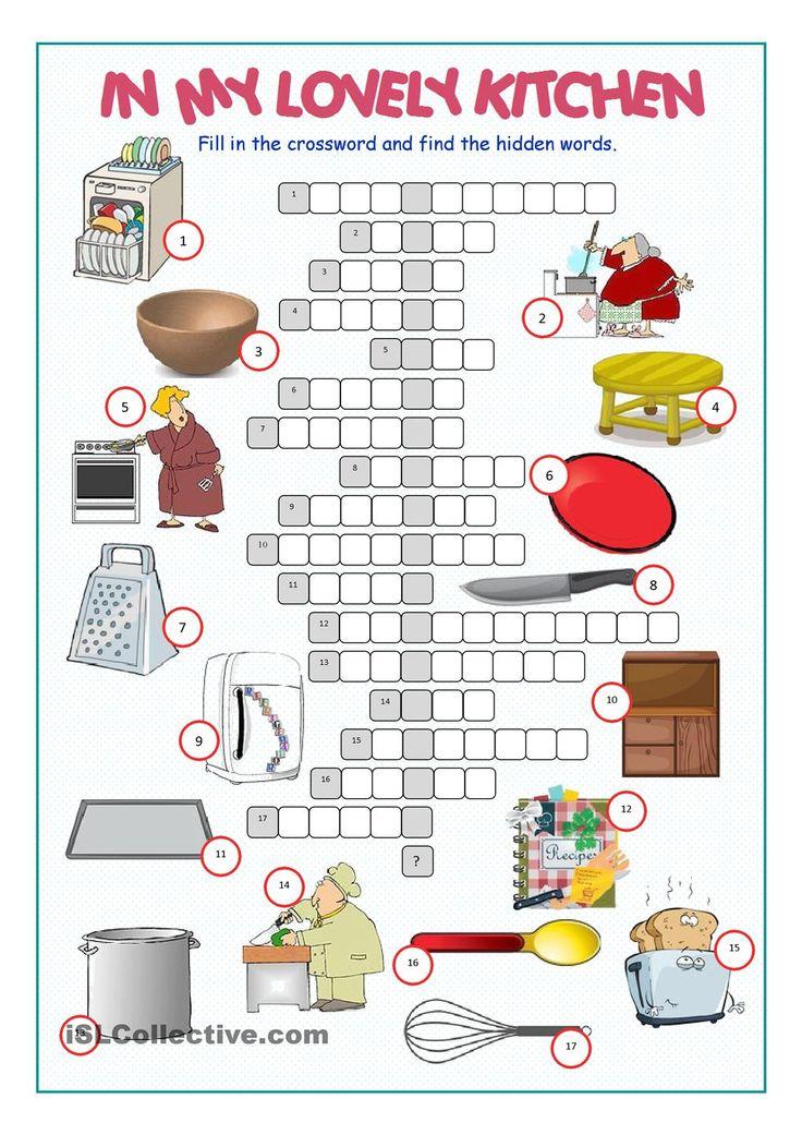 Kitchen Crossword Puzzle