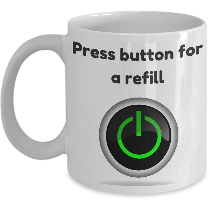 Press button for a refill mug