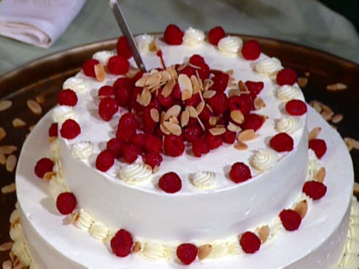 Classic White Cake recipe from Cooking Live via Food Network