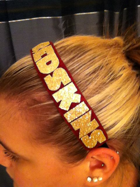 Redskins Headband by TeamTime on Etsy, $8.00