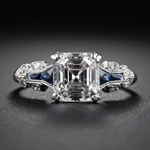 A glorious and glistening classic square emerald-cut - aka Asscher-cut - diamond…