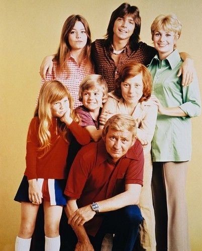 The Partridge Family 1970-1974, starring Shirley Jones and her teen idol stepson, David Cassidy.
