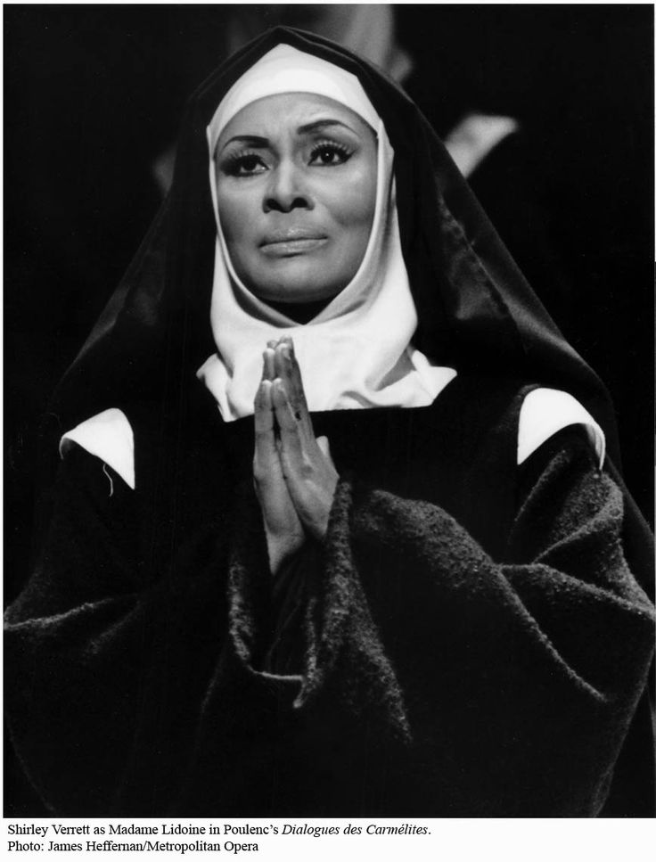 "Shirley Verrett as Madame Lidoine in ""Dialogues des Carmélites"""